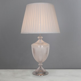 Dorma Alderley Elegance Ribbed Glass Table Lamp