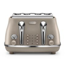 Delonghi Elements Toaster Desert Beige 4 Slice CTOE4003.BG