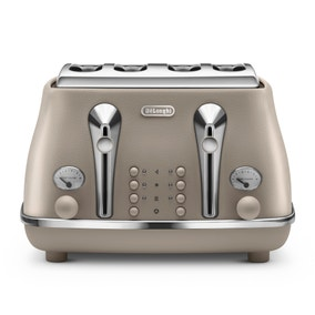 Delonghi Elements CTOE4003.BG Desert Beige 4 Slice Toaster