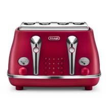 Delonghi Elements Toaster Flame Red 4 Slice CTOE4003.R