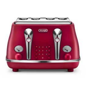 Delonghi Elements CTOE4003.R Flame Red 4 Slice Toaster