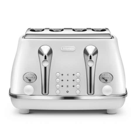 Delonghi Elements CTOE4003.W Cloud White 4 Slice Toaster