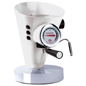 Bugatti Diva Espresso Machine White 15-DIVAC1/UK