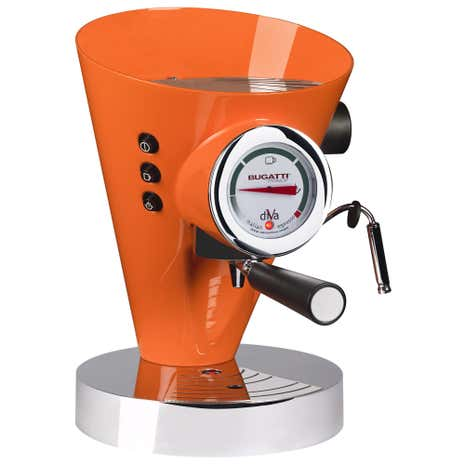 Bugatti Diva Espresso Machine Orange 15-DIVAO/UK