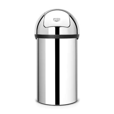 Brabantia 60 Litre Brilliant Steel Push Bin