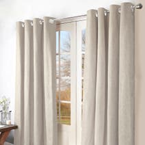 Natural Ohio Eyelet Curtains