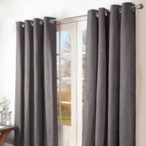 Grey Ohio Eyelet Curtains