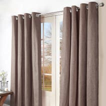 Mink Ohio Eyelet Curtains
