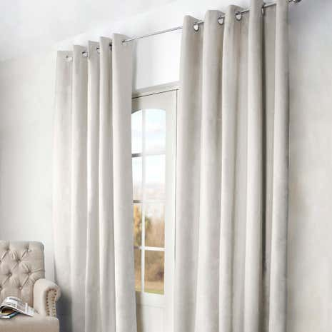Arizona Natural Blackout Eyelet Curtains