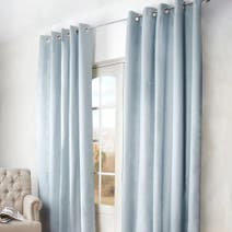 Duck Egg Arizona Blackout Eyelet Curtain