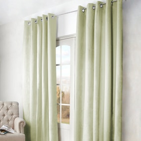 Green Arizona Blackout Eyelet Curtains