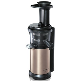 Panasonic MJL500SXC Gold Slow Juicer with Frozen Sorbet Attachment