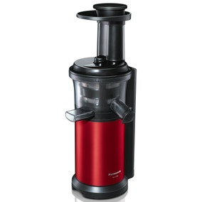 Panasonic MJL500SXC Red Slow Juicer with Frozen Sorbet Attachment