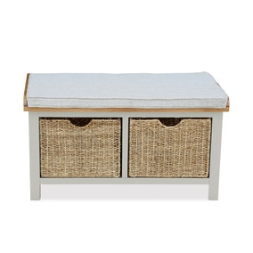 Sidmouth Cotton Hallway Bench With Baskets