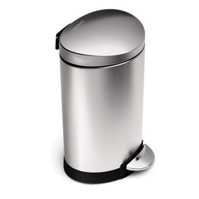 simplehuman Fingerprint Proof Steel 6 Litre Semi Round Bin