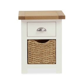Wilby Cream 2 Drawer Bedside Table