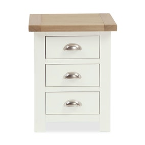Wilby Cream 3 Drawer Bedside Table
