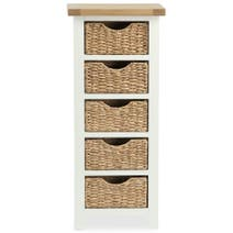 Wilby Cream 5 Drawer Tallboy