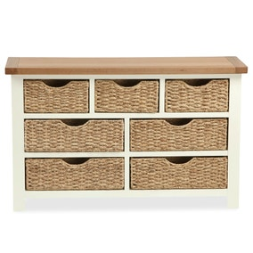 Wilby Cream 7 Drawer Chest with Baskets
