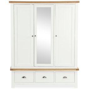 Wilby Cream Triple Wardrobe
