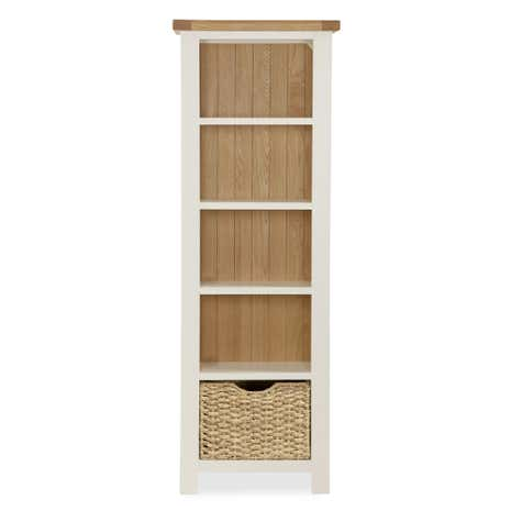 Wilby Cream Slim Bookcase
