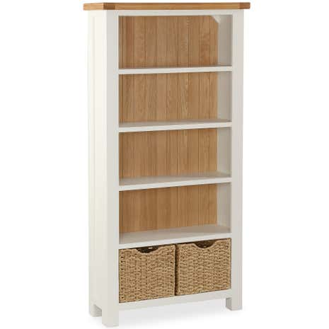Wilby Cream Large Bookcase