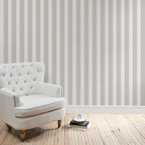 Heritage Grey Stripe Wallpaper