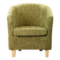 Maurice Lime Chenille Tub Chair