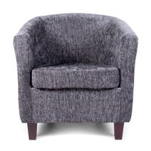 Maurice Charcoal Chenille Tub Chair