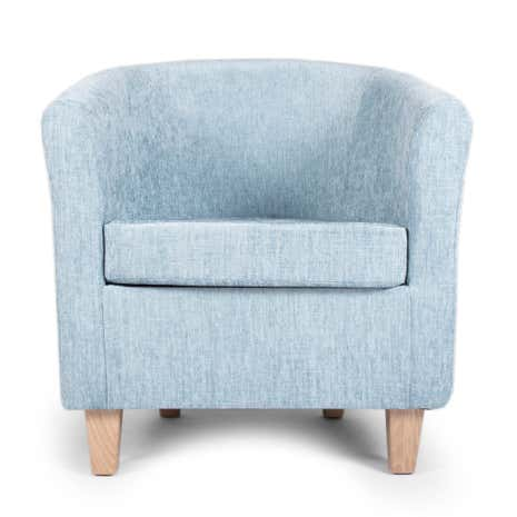 Maurice Duck Egg Chenille Tub Chair