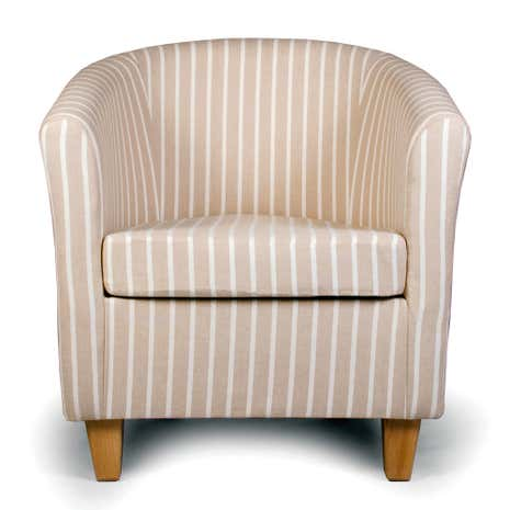 Hampton Natural Stripe Tub Chair