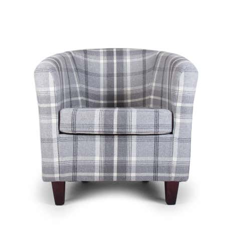 Balmoral Dove Grey Tub Chair