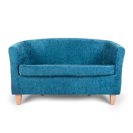 Maurice Teal 2 Seater Tub Chair