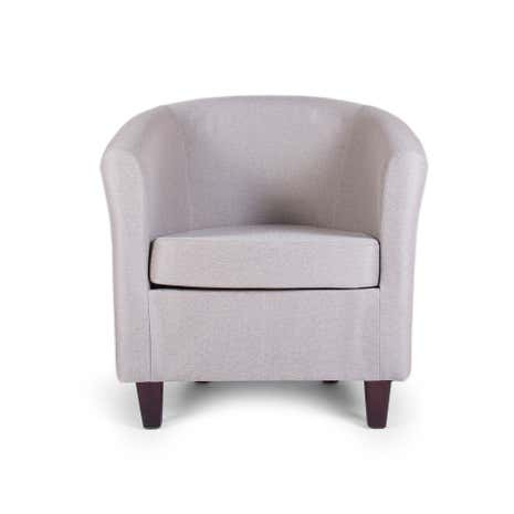 Elliott Herringbone Mink Tub Chair