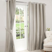 Nova Biscuit Blackout Eyelet Curtains