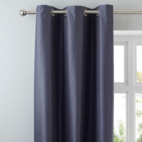 Nova Charcoal Blackout Eyelet Curtains