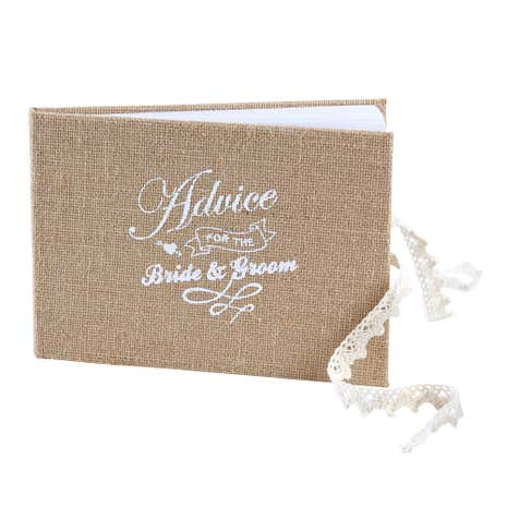 Vintage Affair Bride & Groom Advice Book