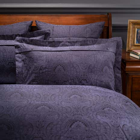 Dorma Paisley Navy Oxford Pillowcase