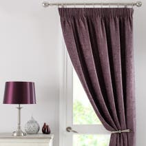Mauve Chenille Door Curtain