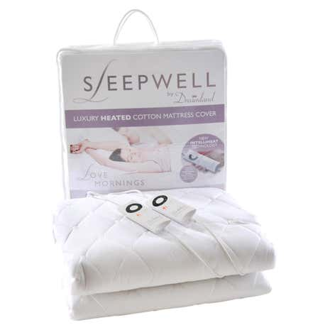 Dreamland Sleepwell Cotton Dual Heated Mattress Protector