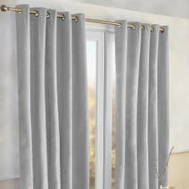 Alaska Grey Thermal Eyelet Curtains