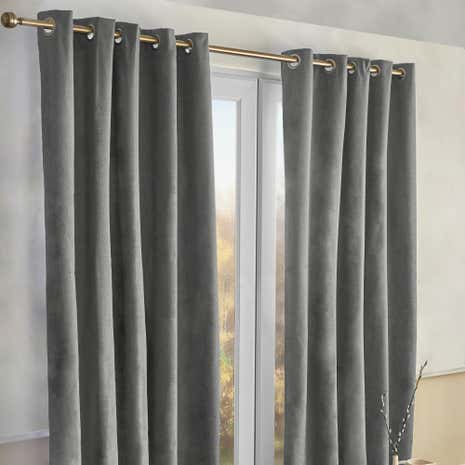 Alaska Charcoal Thermal Eyelet Curtains