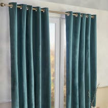 Alaska Teal Thermal Eyelet Curtains