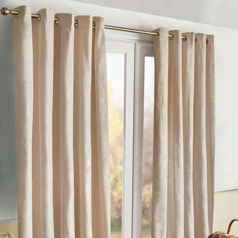 Meribel Natural Thermal Eyelet Curtains