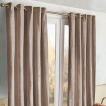 Meribel Taupe Thermal Eyelet Curtains