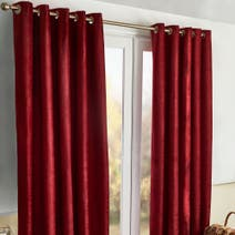 Meribel Wine Thermal Eyelet Curtains