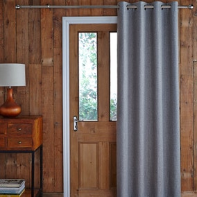 Harris Grey Thermal Door Curtain