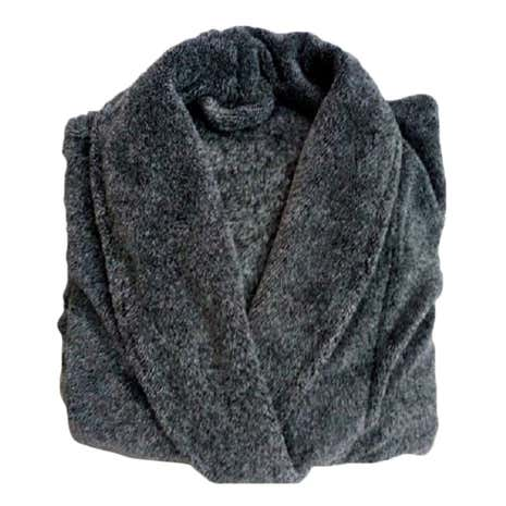 Men's Charcoal Marl Bathrobe