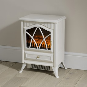 Small White Stove Effect Heater 1850W