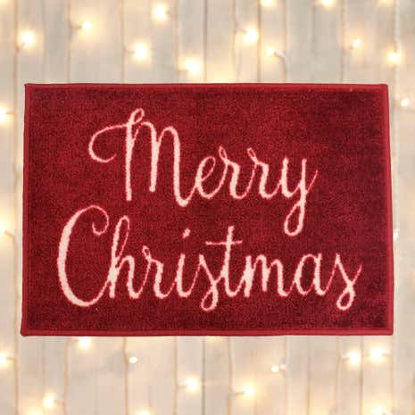 Red Merry Christmas Mat